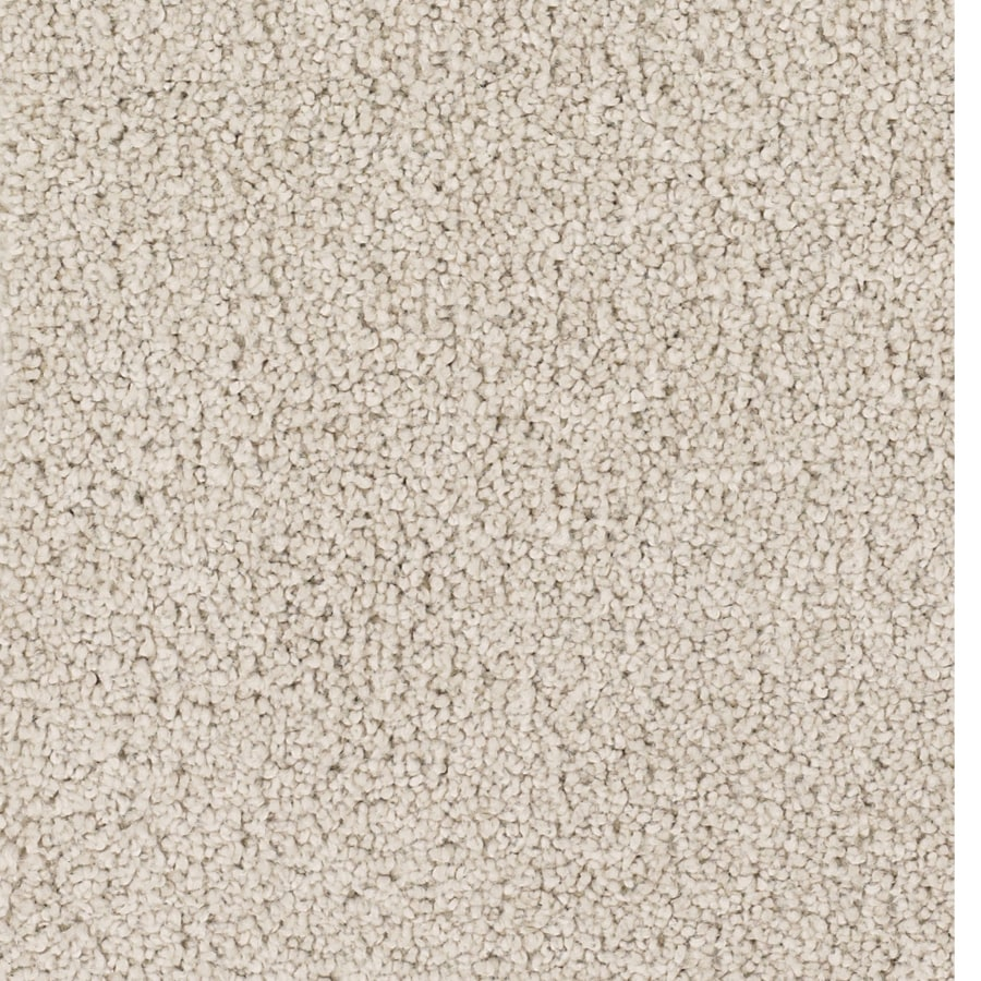 STAINMASTER Pomadour TruSoft Cream/Beige/Almond Plush Carpet Sample