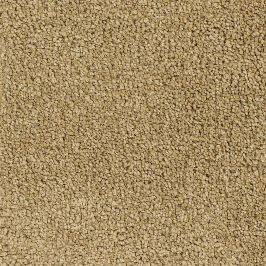 STAINMASTER Pomadour TruSoft Yellow/Gold Plush Carpet Sample