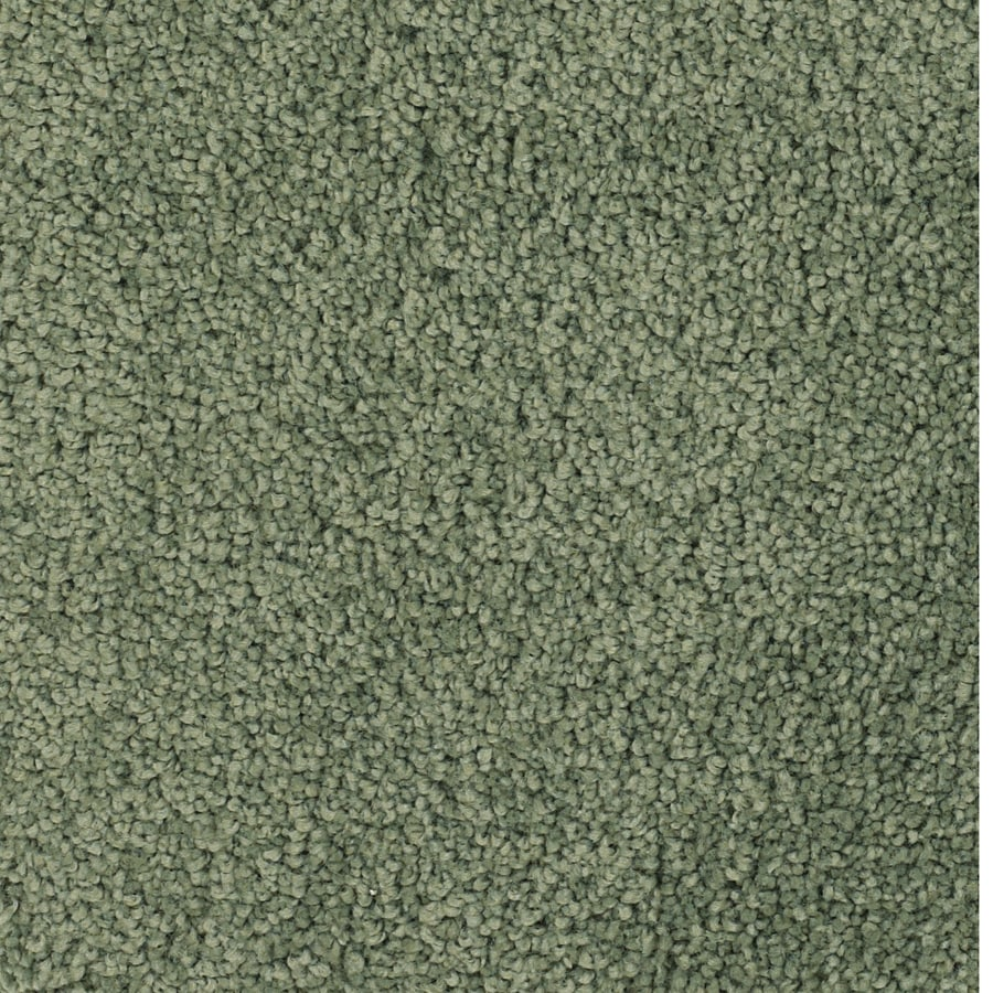 STAINMASTER Pomadour TruSoft Green Plush Carpet Sample