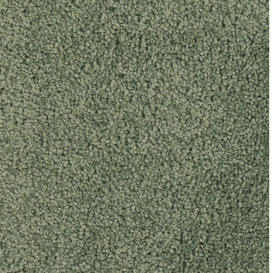 STAINMASTER TruSoft Pomadour Green Plush Carpet Sample