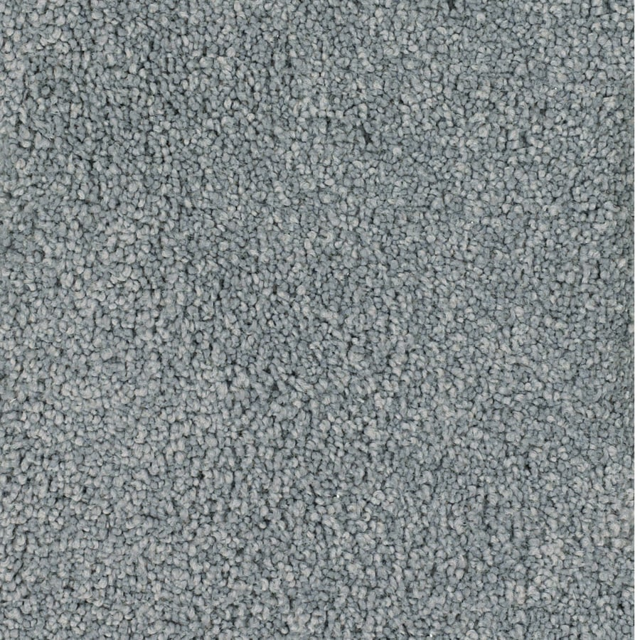 STAINMASTER TruSoft Pomadour Gray/Silver Plush Carpet Sample