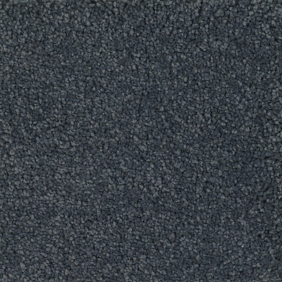 STAINMASTER Pomadour Trusoft Gray/Silver Plush Carpet Sample