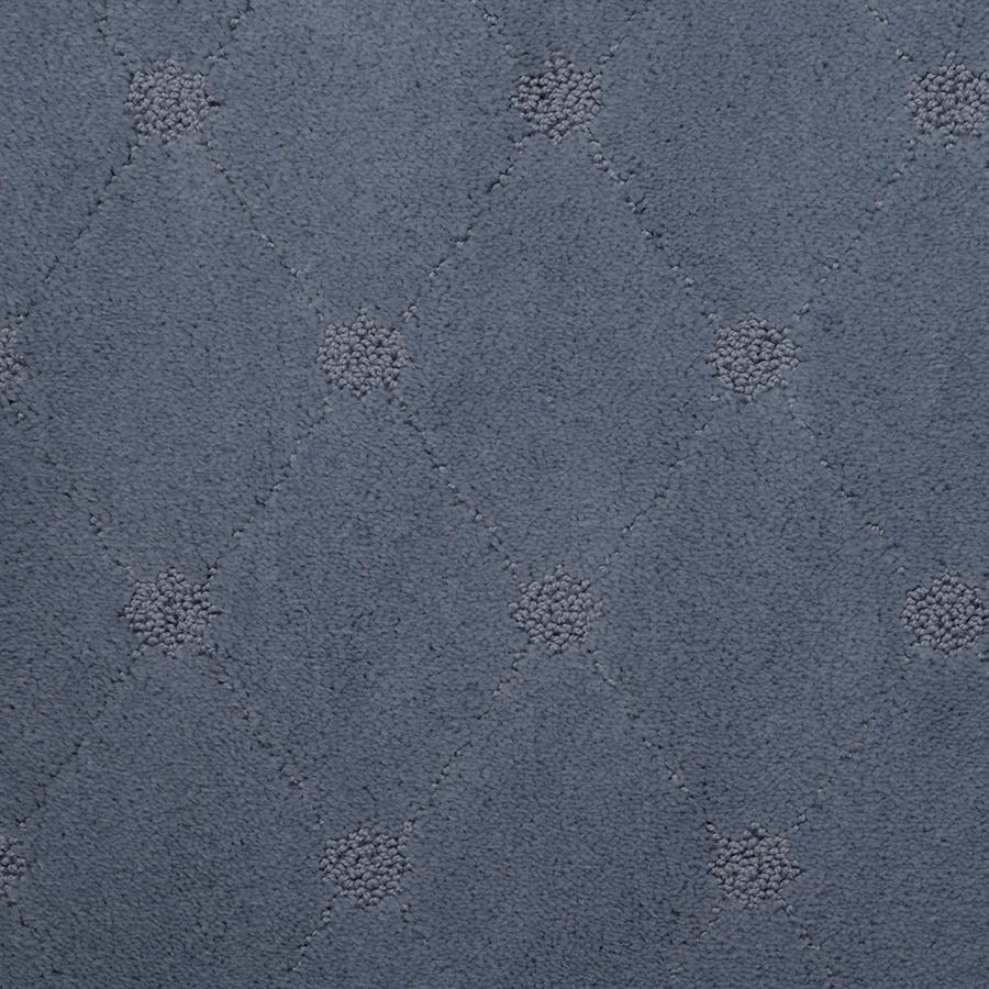 STAINMASTER Hunts Corner TruSoft Artic Sky Cut and Loop Carpet Sample