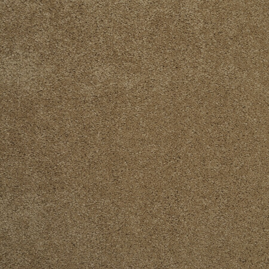 STAINMASTER Best of Class TruSoft Touch of Lemon Cut and Loop Carpet Sample