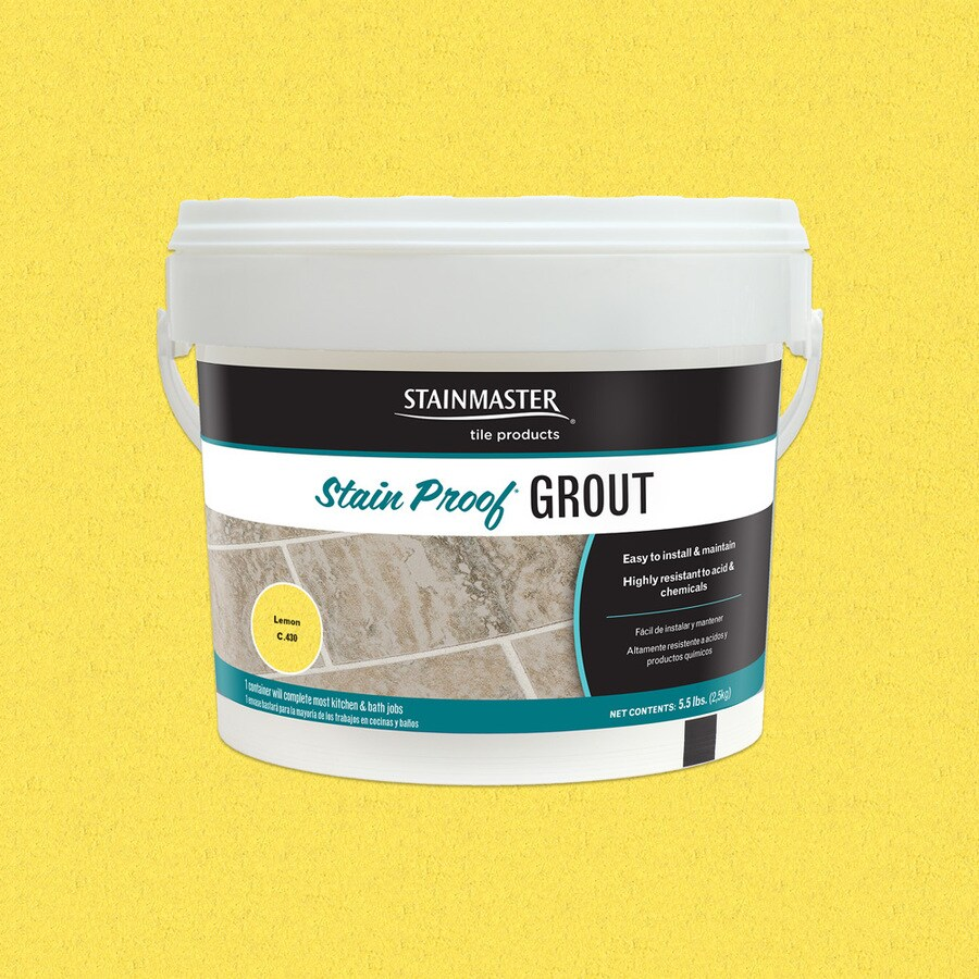 STAINMASTER Glamour 5.5-lb Lemon Sanded/Unsanded Epoxy Grout