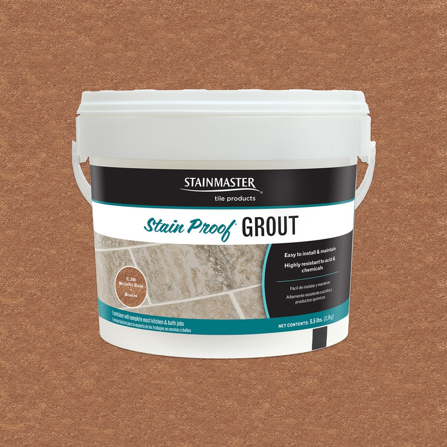 STAINMASTER Metallic 5.5-lb Bronze Sanded/Unsanded Epoxy Grout