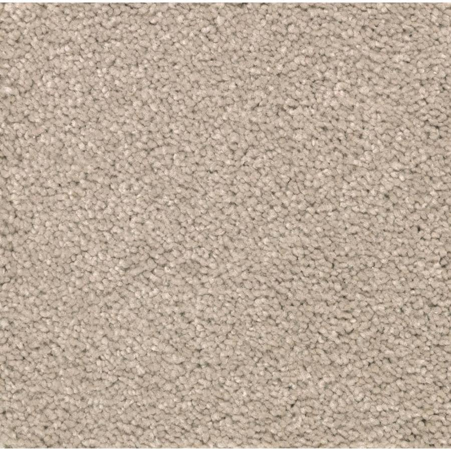 STAINMASTER Essentials Decor Flair Tawny Tan Plush Carpet Sample