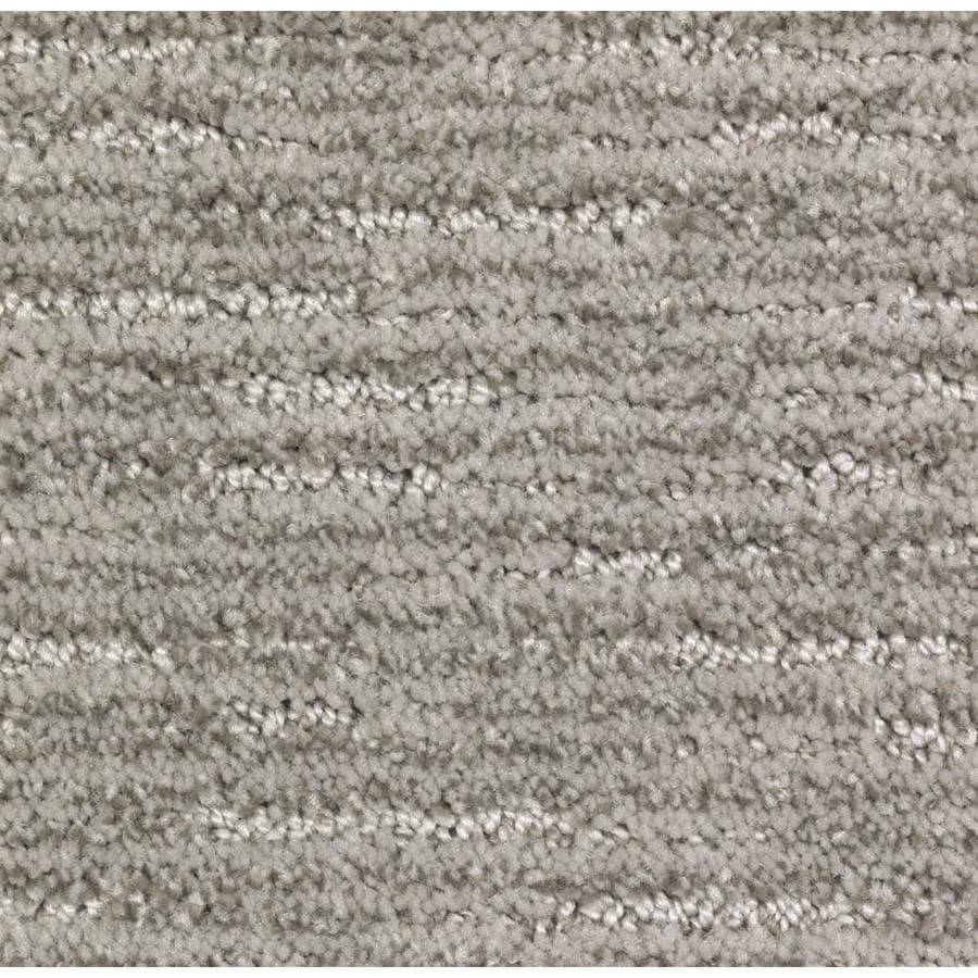 STAINMASTER Fashion Style Essentials Soapstone Cut and Loop Carpet Sample