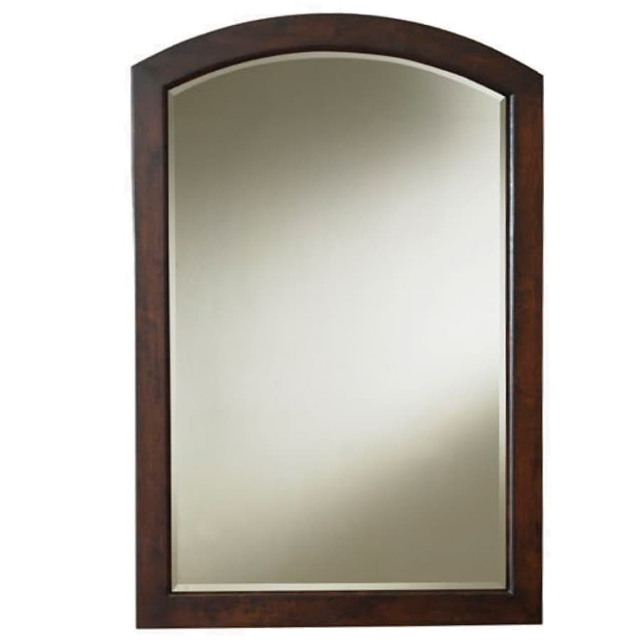 Shop allen roth moravia 22 in w x 30 in h sable arch for Bathroom vanity mirrors