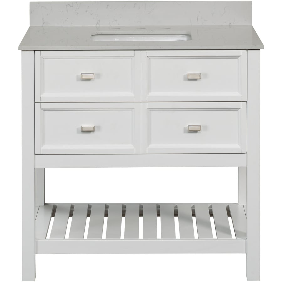Lowe bathroom vanity - Shop Scott Living Canterbury White Single Sink Bathroom