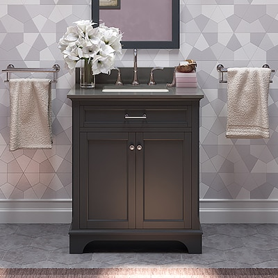30 Inch Gray Bathroom Vanity Lowes Image Of Bathroom And Closet