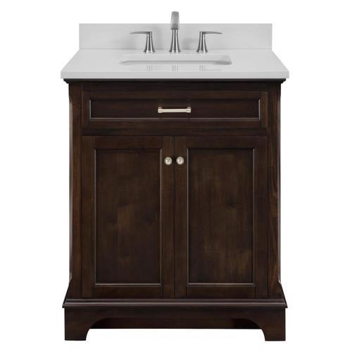 Allen + roth Roveland Mahogany Undermount Single Sink ...
