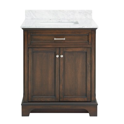 Mahogany Single Sink Bathroom Vanity