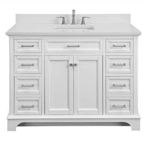 Allen + roth Roveland White Undermount Single Sink ...