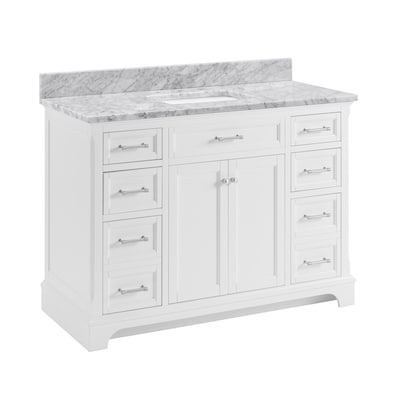 Scott Living Roveland 48 In White Single Sink Bathroom Vanity With