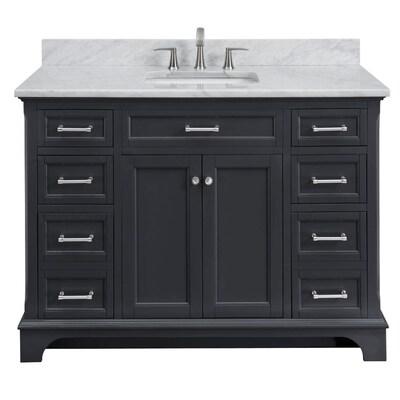 Scott Living Roveland 48 In Dark Gray Single Sink Bathroom Vanity