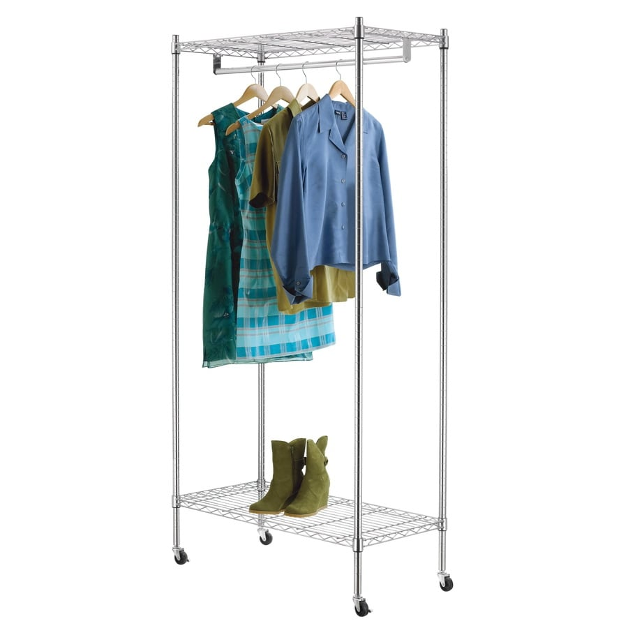 Shop Style Selections Chrome Steel Garment Rack At Lowes Com