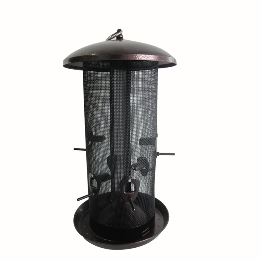 Garden Treasures Bronze Steel Tube Bird Feeder