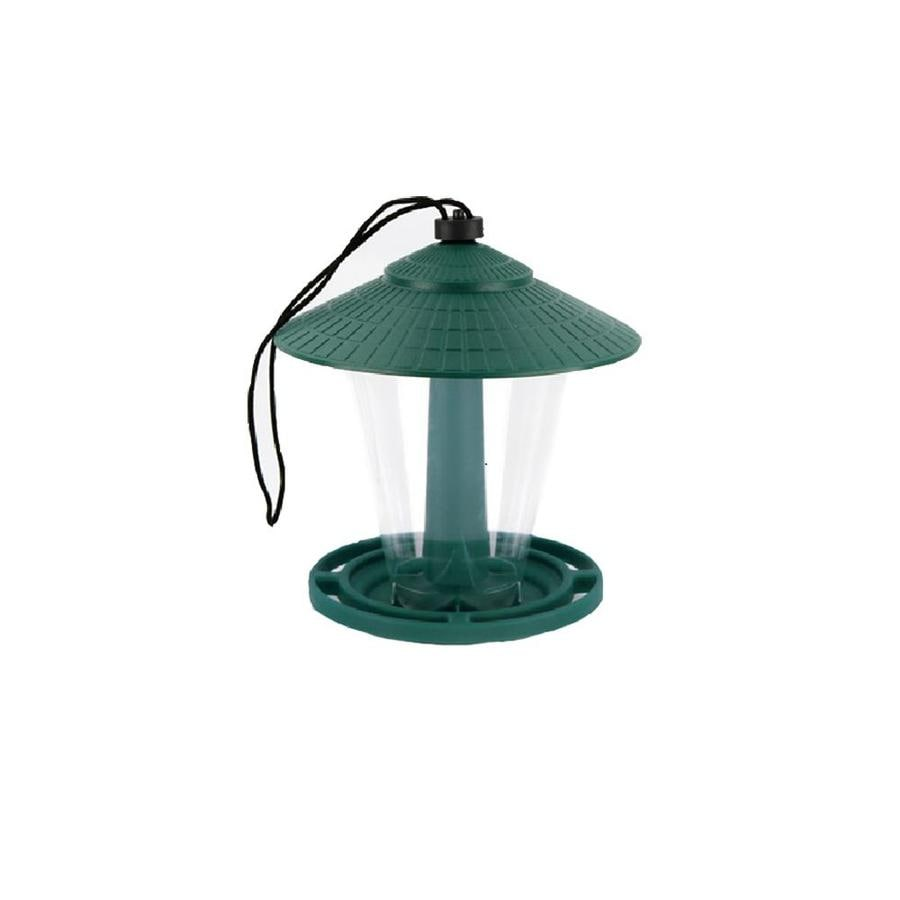 Garden Treasures Green or Blue Plastic Hopper Bird Feeder