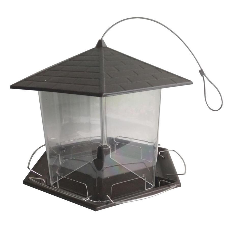 Shop garden treasures large metal hopper bird feeder at for Bird feed tin
