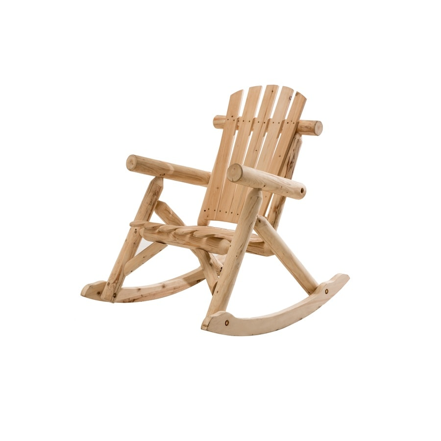 Sunjoy Brown Douglas Fir Patio Rocking Chair