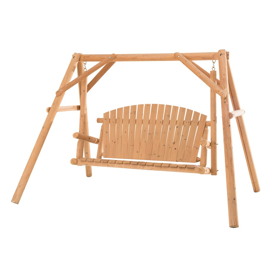 Sunjoy Fairbanks Natural Porch Swing