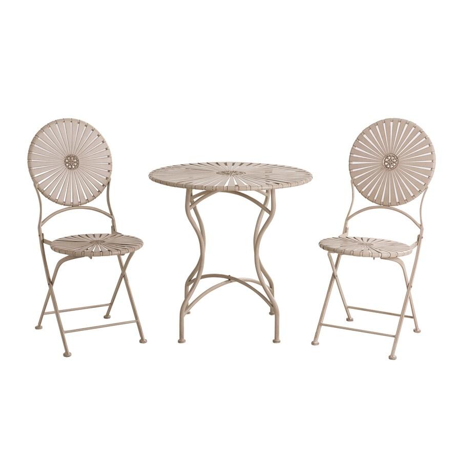 Sunjoy 28-in W x 28-in L Round Steel Folding Bistro Table
