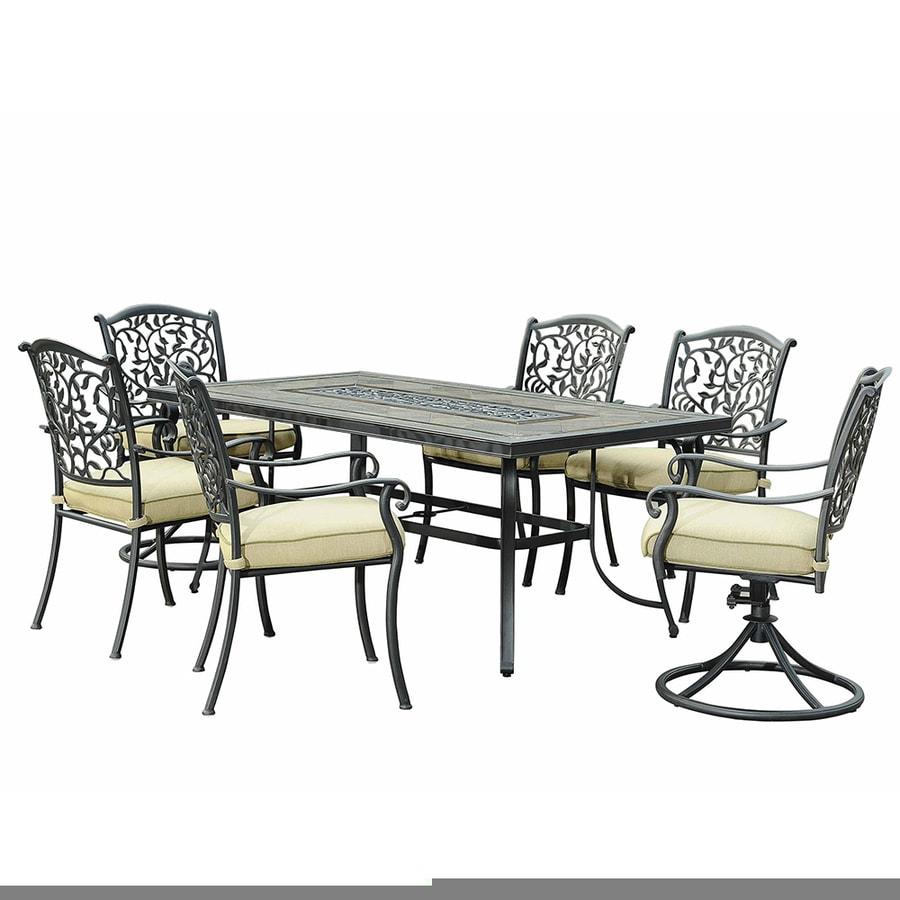 Sunjoy 7-Piece Stone Patio Dining Set
