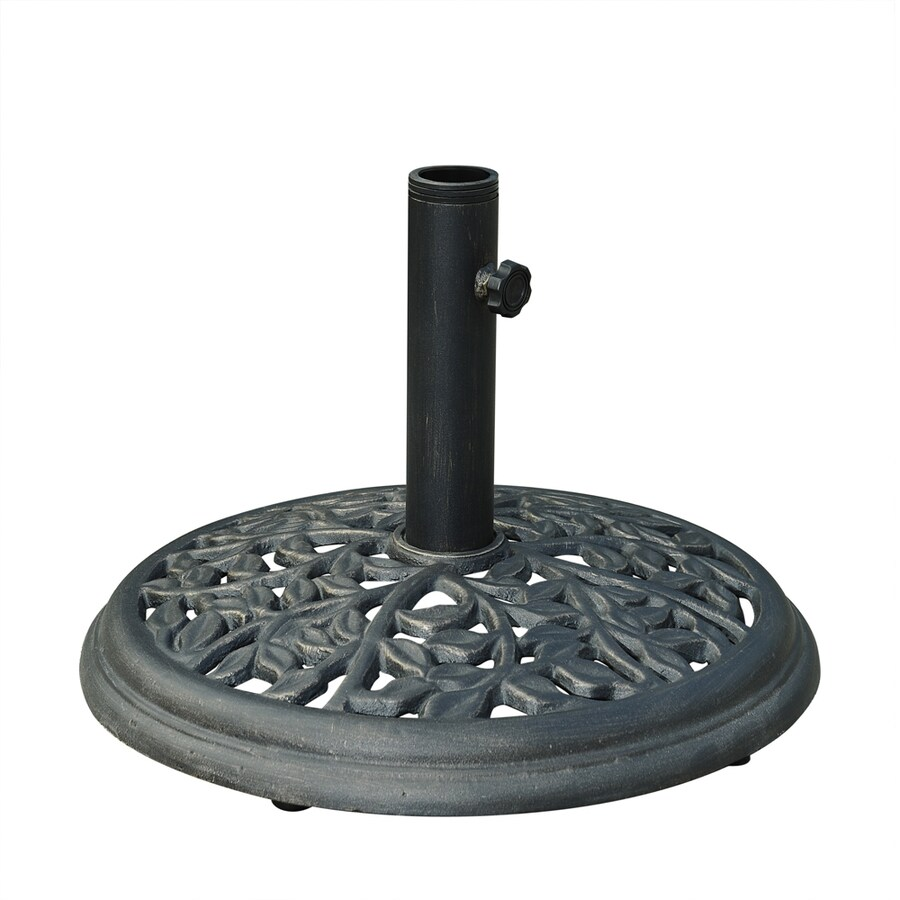 Shop Sunjoy Black Cast Iron Umbrella Base At Lowes Com