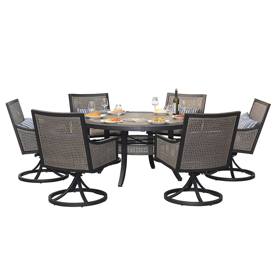 shop sunjoy 7 piece tile patio dining set at