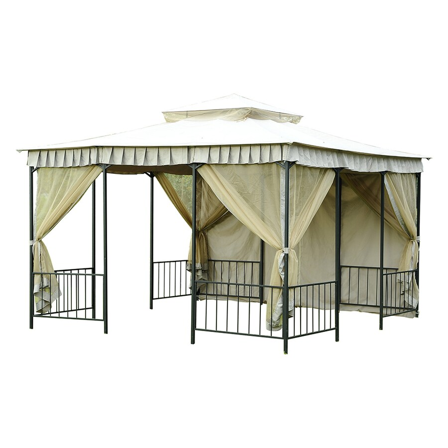 Sunjoy Brown Square Gazebo (Foundation: 11.5-ft x 11.5-ft)