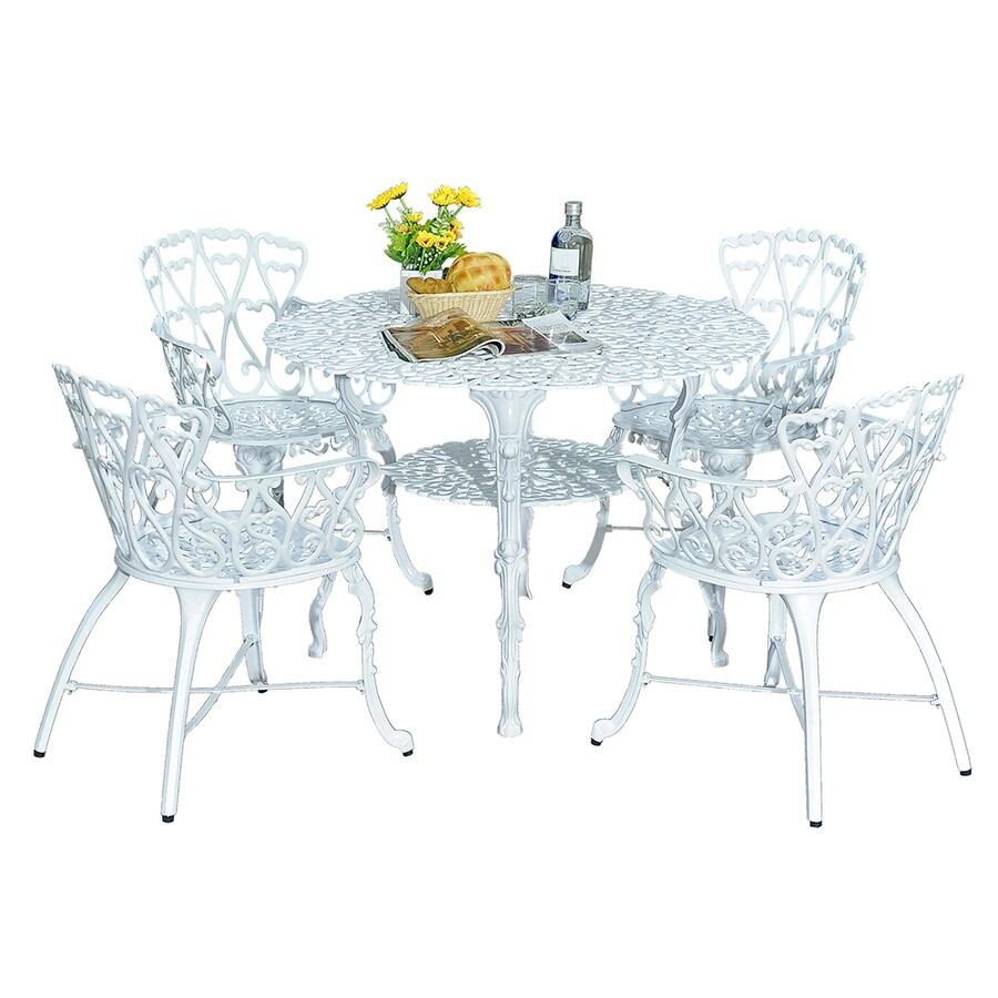 Sunjoy 5-Piece Aluminum Patio Dining Set