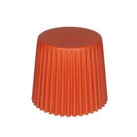 Sunjoy 16 In Orange Plastic Barrel Garden Stool