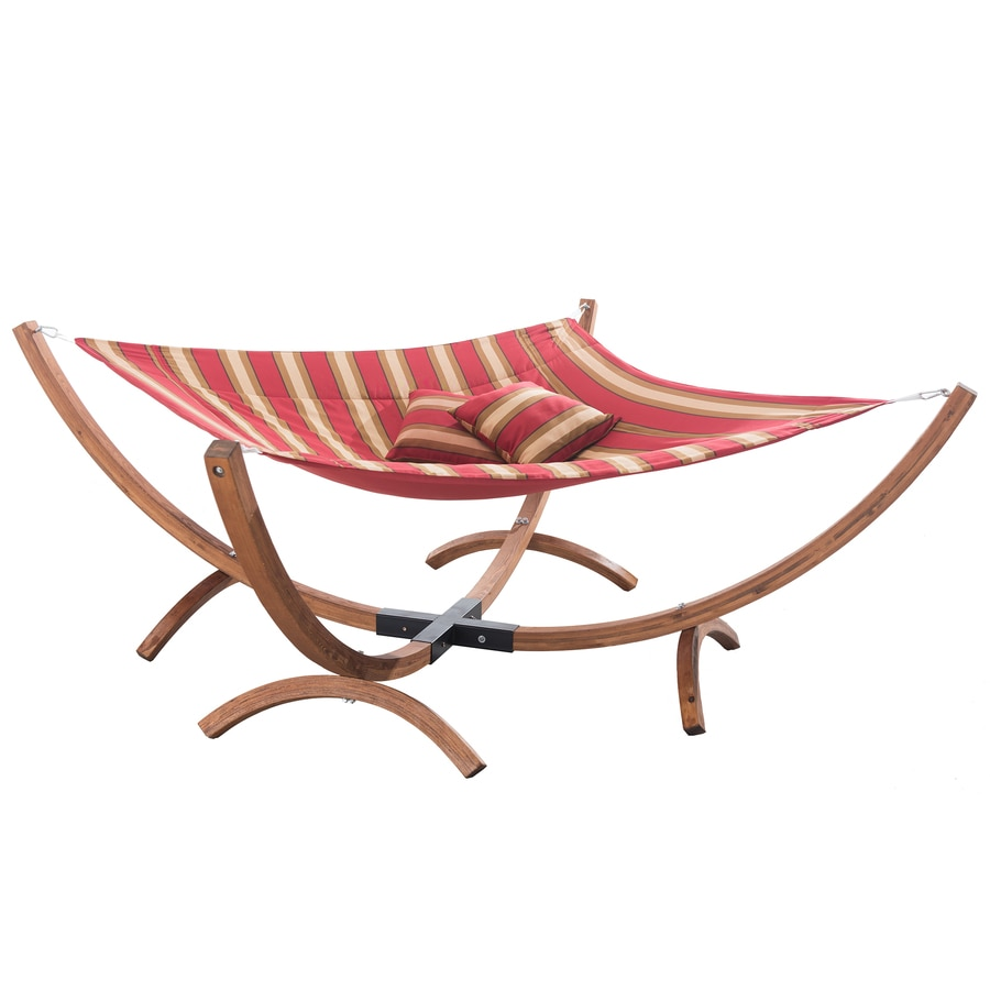Sunjoy Red Fabric Hammock with Stand