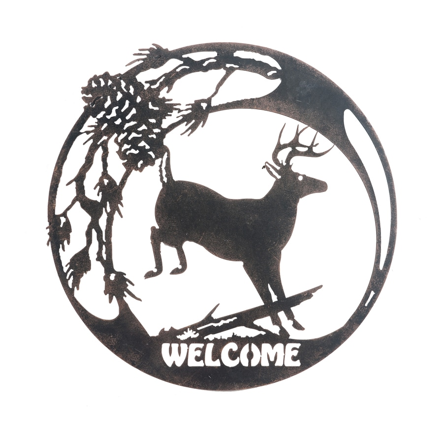 Sunjoy 0.25-in W x 19-in H Frameless Metal Welcome Sign Sign Wall Art