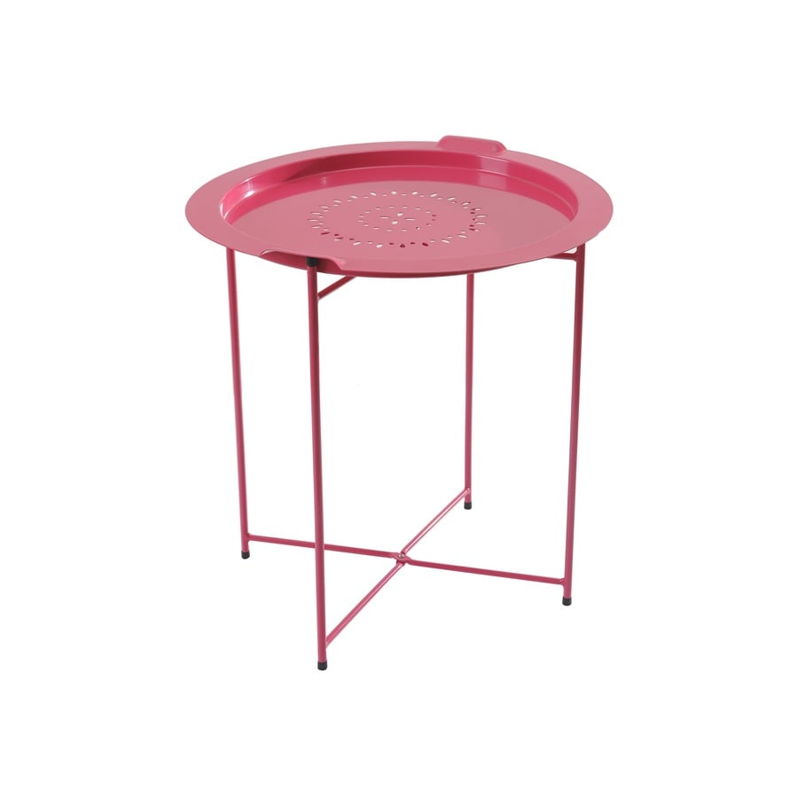 Sunjoy 20-in W x 20-in L Round Steel End Table
