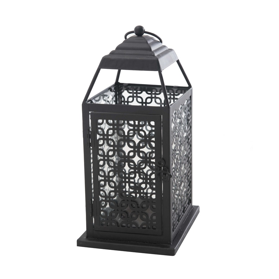 Sunjoy 5.75-in x 14.25-in Bronze Metal Pillar Candle Outdoor Decorative Lantern