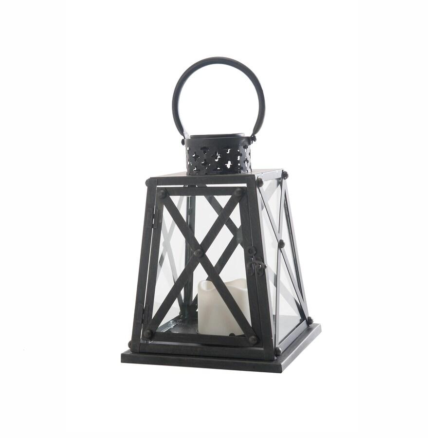 Sunjoy 8.25-in x 14.5-in Bronze Metal Solar Outdoor Decorative Lantern