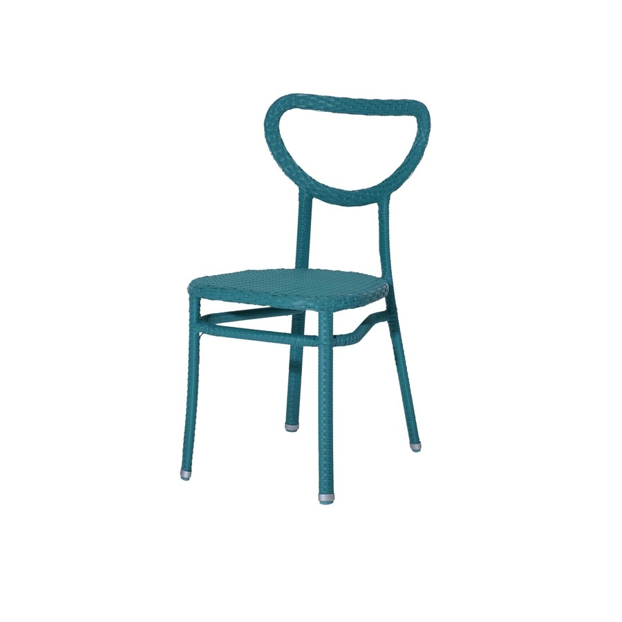 Sunjoy 4-Count Turquoise Wicker Patio Dining Chairs