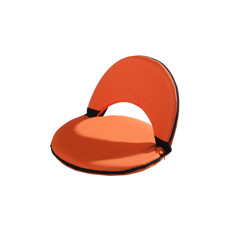 Sunjoy Orange Plastic Patio Chaise Lounge Chair