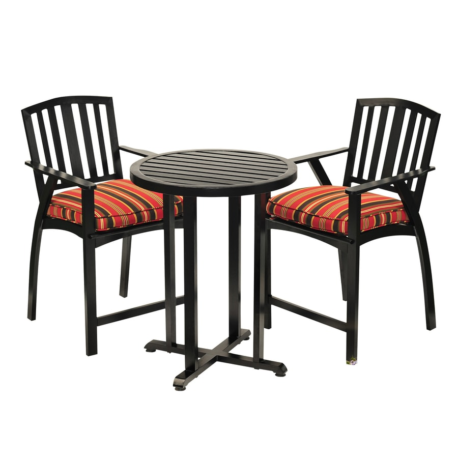 Shop Sunjoy 28-in W x 28-in L Round Aluminum Bistro Table at Lowes.com