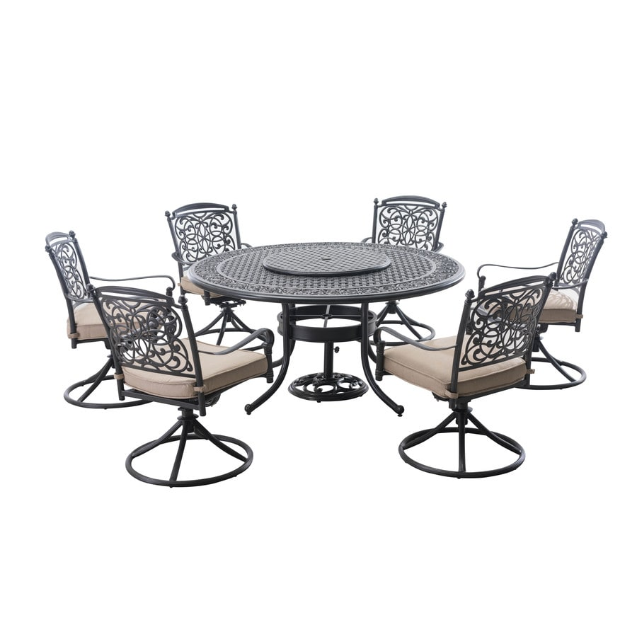 Sunjoy Renaissance 9-Piece Brown Aluminum Dining Patio Dining Set