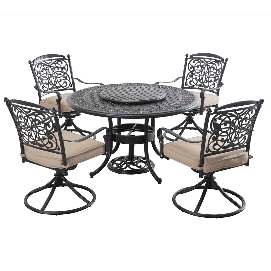 shop sunjoy renaissance 7 piece brown aluminum dining