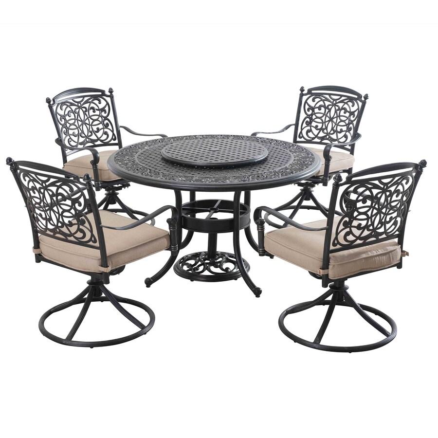 Sunjoy Renaissance 7-Piece Brown Aluminum Dining Patio Dining Set