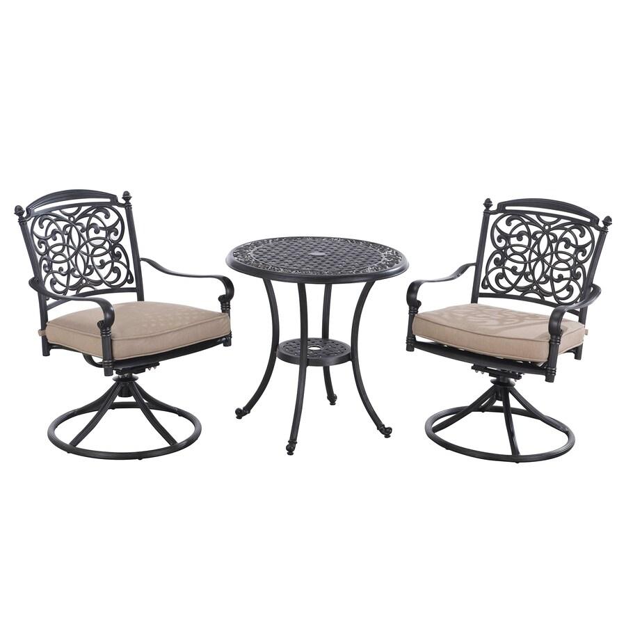 Sunjoy Renaissance 28-in W x 28-in L Round Aluminum Bistro Table