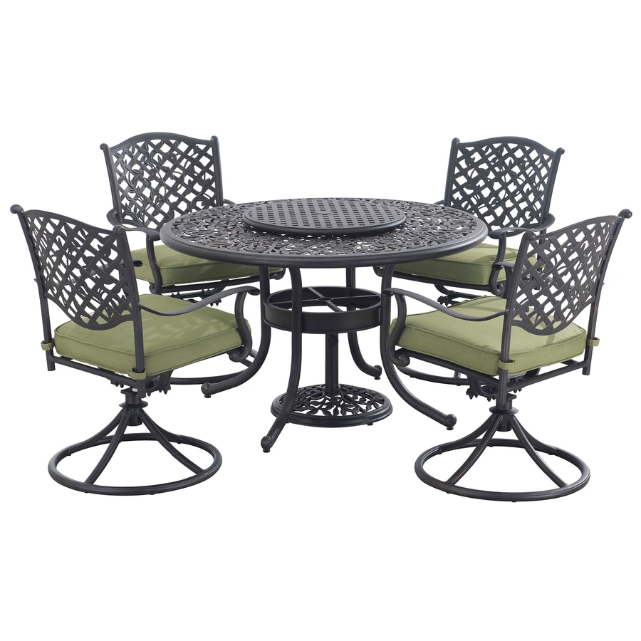 vining 7 piece black aluminum dining patio dining set at