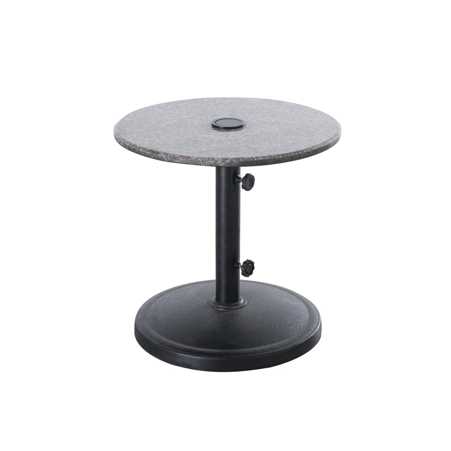Sunjoy Round End Table 22 In W X 22 In L With Umbrella