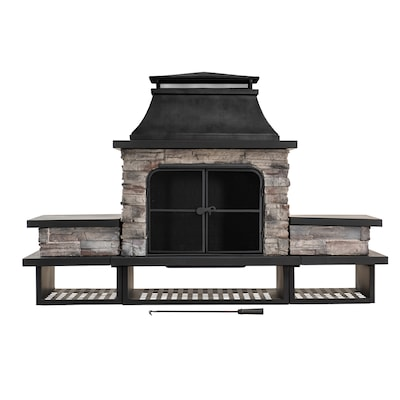Sunjoy Outdoor Wood Burning Fireplaces At Lowes Com