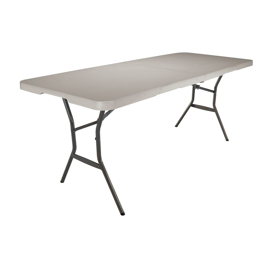 LIFETIME PRODUCTS 72-in x 30-in Rectangle Steel Putty N Folding Table