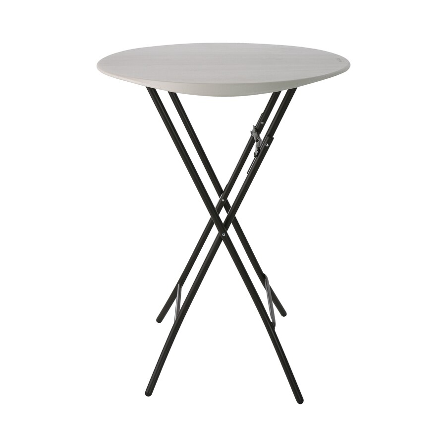 LIFETIME PRODUCTS 33-in x 33-in Circle Steel Almond Folding Table